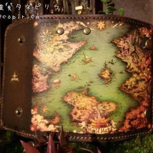 魔法の地図柄キーケース
