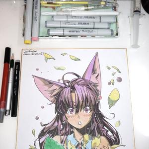 【色紙】弾ける花