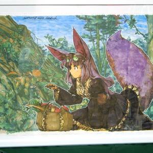 【大型イラスト】キノコ狩り
