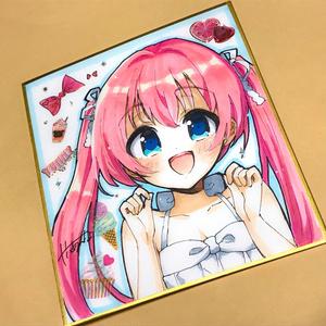 【創作】手描き色紙