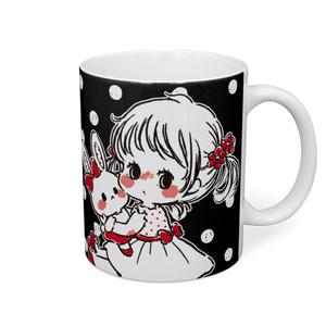 ♡ 私のうさちゃん ♡ マグカップ - ブラック