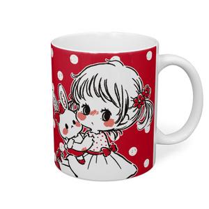 ♡ 私のうさちゃん ♡ マグカップ - レッド