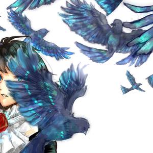 神楽麗 ポストカード(蒼い鳥)
