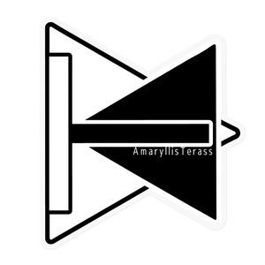 AmaryllisTerass公式ロゴステッカー(モノクロ)