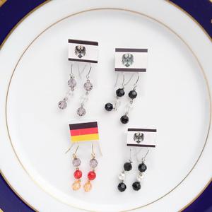 【ヘタリア】ドイツ・プロイセン 国旗カラーピアス・イヤリング
