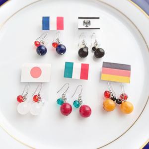 【ヘタリア】国旗カラー ピアス・イヤリング(ビーズ)