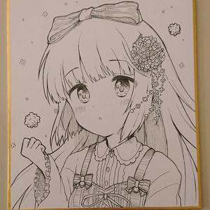 小色紙(モノクロ)