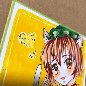 【小色紙 原画】東方 橙