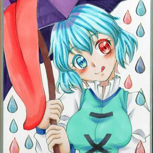 【小色紙 原画】東方 多々良小傘