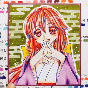 【小色紙 原画】東方 小兎姫