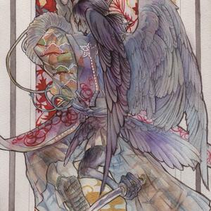 【原画】八咫頭・椿