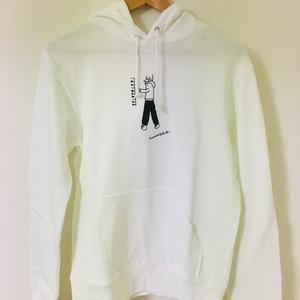 「ONNANOKATACHI」薄手トレーナー 白色  パンツ柄