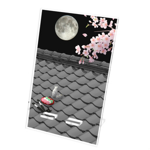 スマホスタンド(屋根上の月夜桜)