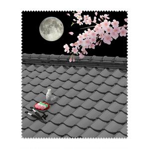 めがね拭き(屋根上の月夜桜)