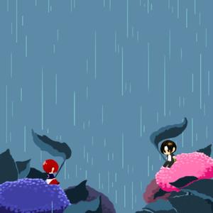 雨降りちま京とちま庵 アクリルブロック