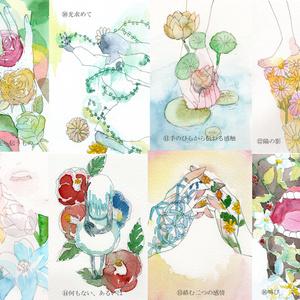 植物の庭 ポストカード 原画