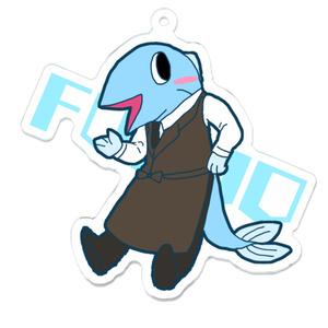 ミニ福魚さんのアクリルキーホルダー