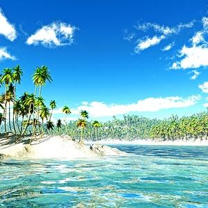 災害復興支援3DCG 夏の海 No68