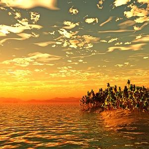 災害復興支援3DCG 夏の海 No69