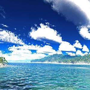 災害復興支援3DCG 夏の海 No70