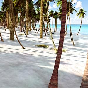 災害復興支援3DCG 夏の海 No72