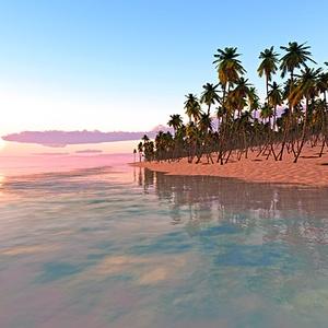 災害復興支援3DCG 夏の海 No82