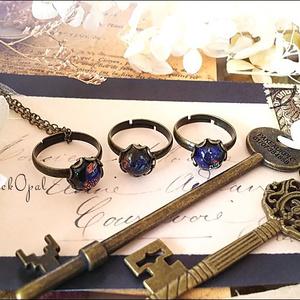 *ブラックオパールのリングネックレス-Vintage-*