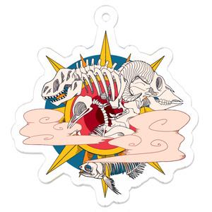 骨アクリルキーホルダー ホワイト