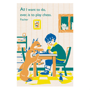ポストカード チェス <レトロ印刷>