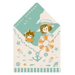 ダイカットポストカード <レトロ印刷>