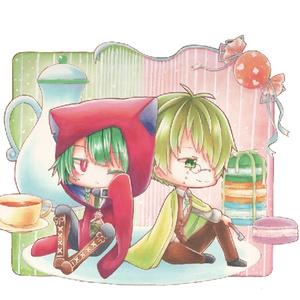 和服×アリス 両面アクキー