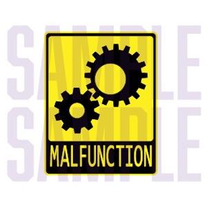 MALFUNCTION [vrc想定ステッカー]