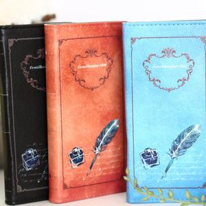 [茶]紳士猫と羽ペン 手帳型スマホケース