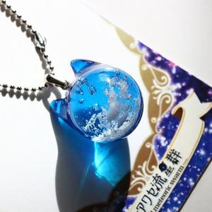 青空猫のネックレス 【レジン猫ネックレス】