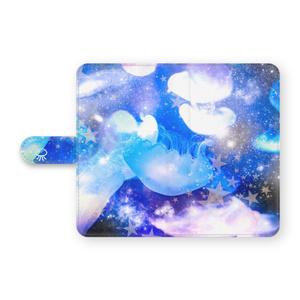 宇宙クラゲの手帳型スマホケース