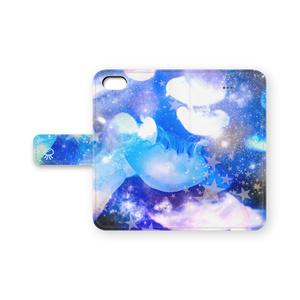 宇宙クラゲ手帳型iPhoneケース