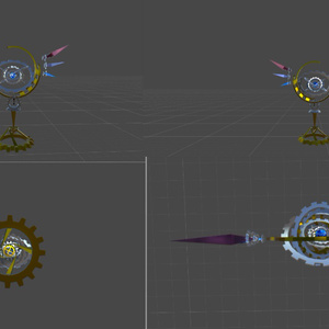 [VRchat想定]gear wand &gear stand