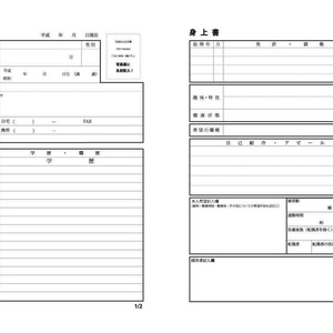オリジナル履歴書(pdfデータ)