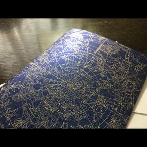 【在庫限り】箔押しメッセージカード・星図(封筒付き)【送料込】