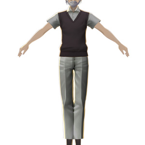 無料の都合の良いおじいさん「つごおじ」3Dモデル