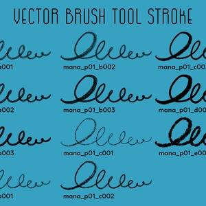 【Affinity Designer】mana pencil 01(vector)【鉛筆風ベクトルブラシ】