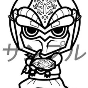 まめ忍者烈風ぬりえ02
