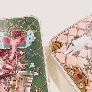 "受注通販 iPhone case ""PARADISE"" green*pink"