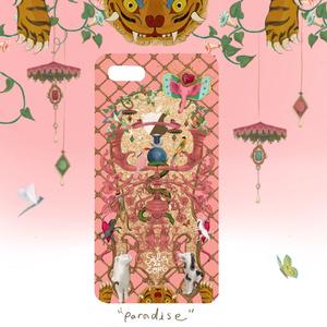 "受注通販 iPhone case ""PARADISE"" pink*gold"