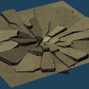 【ゲーム用素材】割れる岩盤エフェクト