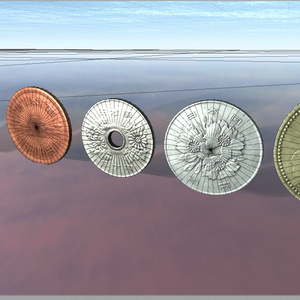 【ゲーム用素材】日本円硬貨モデルデータ