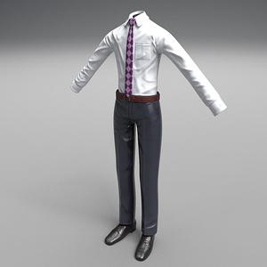 【3D素材】汎用スーツモデル