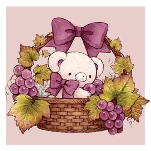 ポストカード「Autumn bear」