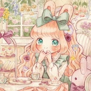 ポストカード「春のお茶会」