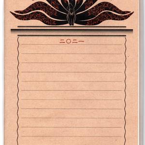 再々販 4月始まり 2021年 黒九尾の狐火 スケジュール手帳 イラストカバー2枚 B6 64ページ 狐の嫁入り 丑 和紙